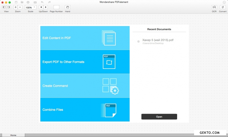 Wondershare pdfelement with ocr for mac 5.7.0. Screenshot №1